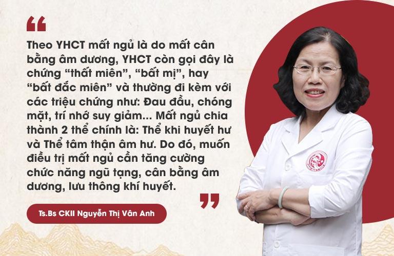 Bác sĩ Nguyễn Thị Vân Anh nói về giải pháp tốt nhất điều trị mất ngủ