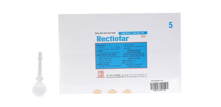 Thuốc trị táo bón cho trẻ em Rectiofar