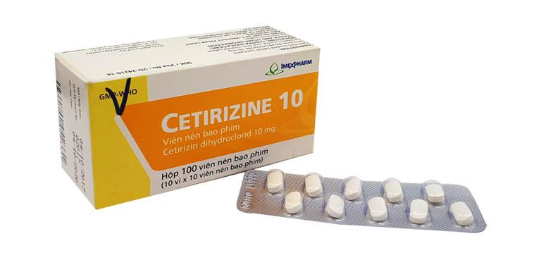 thuốc trị viêm mũi dị ứng Cetirizine