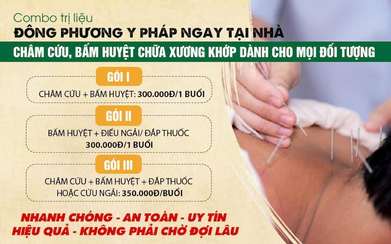Chi tiết từng dịch vụ trong gói trị liệu Đông phương Y pháp tại nhà