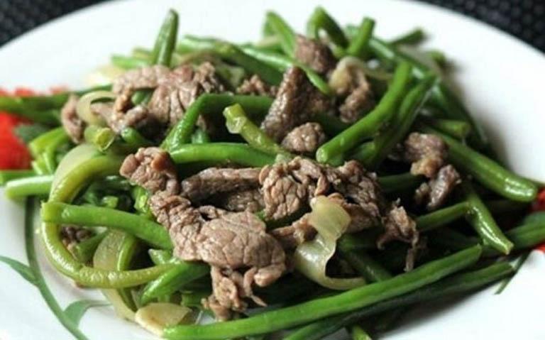 cách chế biến đậu cove xào thịt bò