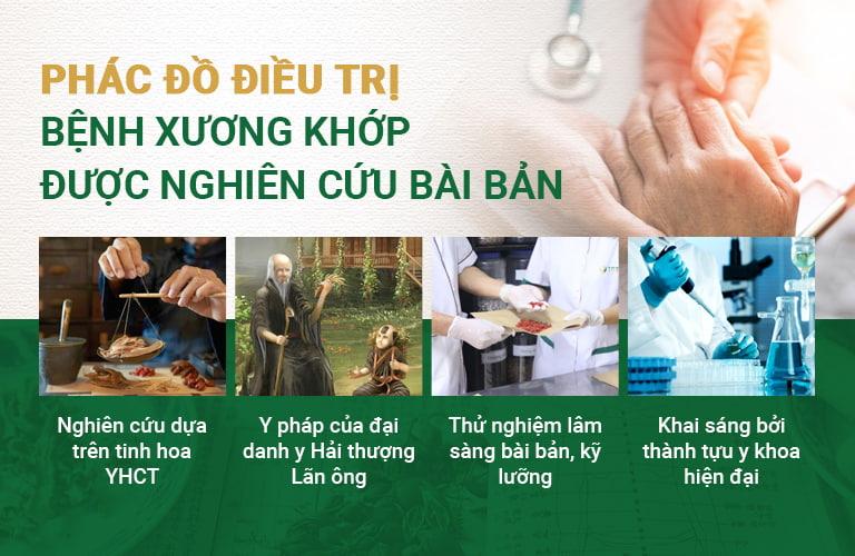 Phác đồ điều trị xương khớp tại Trung tâm Thuốc dân tộc có sự kết hợp nhuần nhuyễn Đông - Tây, kim - cổ