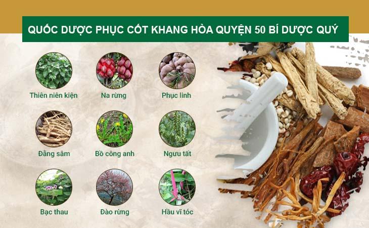 Thành phần thảo dược hòa quyện hơn 50 vị thuốc quý
