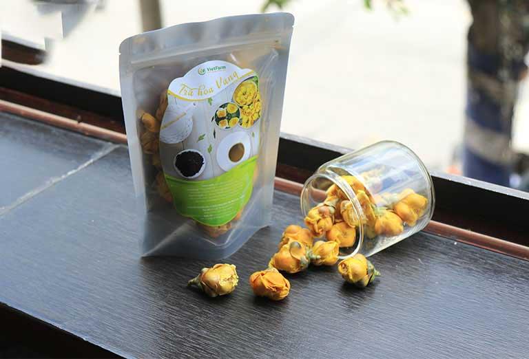 Kim hoa trà được bán phổ biến trên thị trường hiện nay