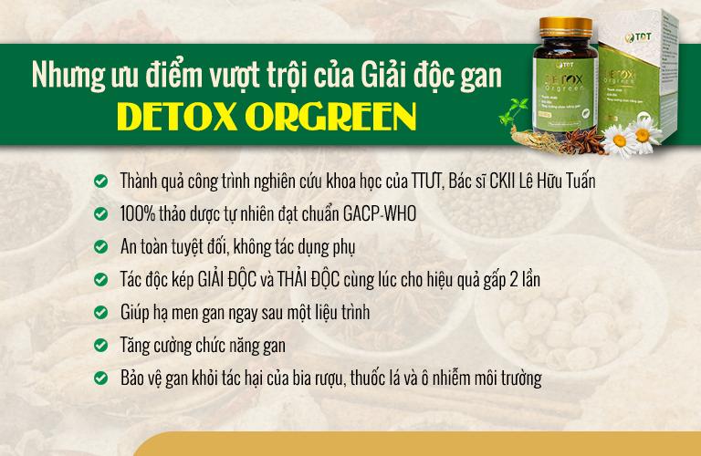 Detox Orgreen với những ưu điểm vượt trội
