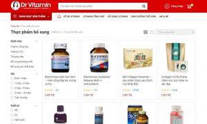 Trang thương mại điện tử tại Dr Vitamin