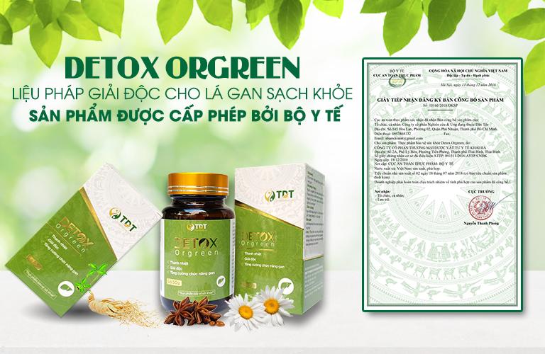 Detox được cấp phép lưu hành bởi cơ quan nhà nước