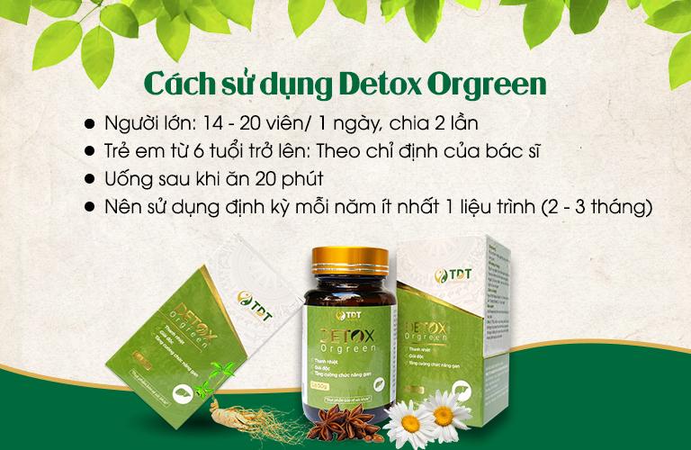 Cách sử dụng sản phẩm Detox Orgreen
