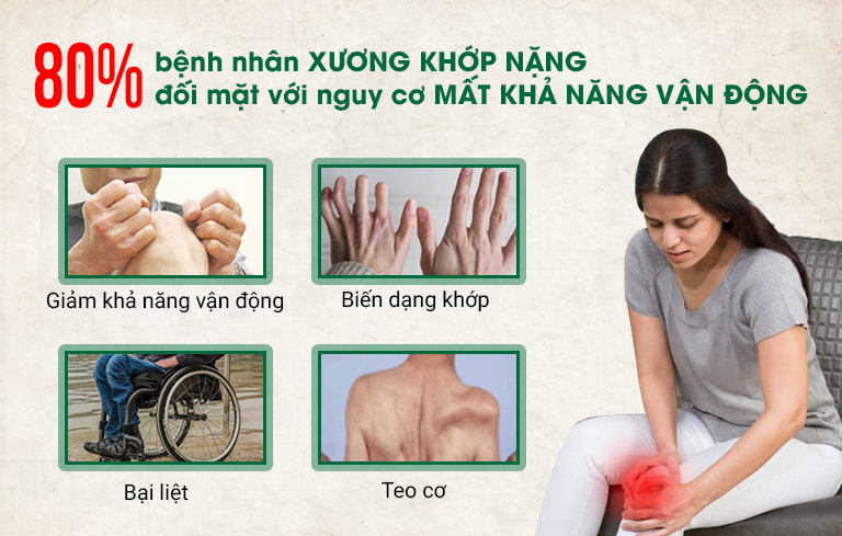 Bệnh xương khớp nặng gây biến chứng bại liệt