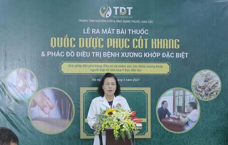 Tiến sĩ, bác sĩ Nguyễn Thị Vân Anh đánh giá quá trình hoàn thiện bài thuốc