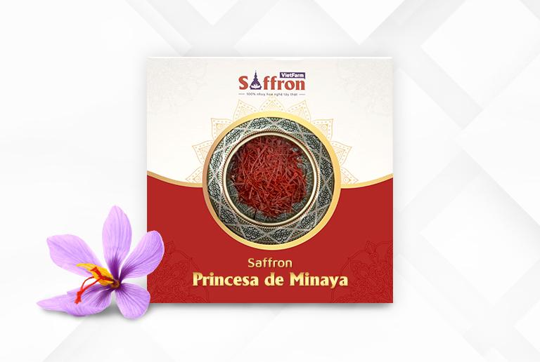 Saffron Princesa de Minaya Tây Ban Nha chất lượng thượng hạng do Saffron Vietfarm độc quyền phân phối
