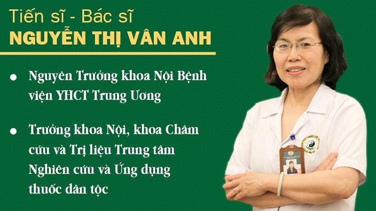 Ts. Bs Nguyễn Thị Vân Anh là chuyên gia hàng đầu trong lĩnh vực YHCT đã dành lời khen cho bài thuốc Bổ Thận Đỗ Minh