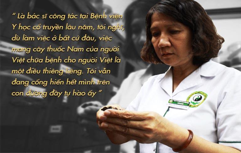 Thạc sĩ, bác sĩ Tuyết Lan - Nguyên Giám đốc chuyên môn Trung tâm Thuốc dân tộc