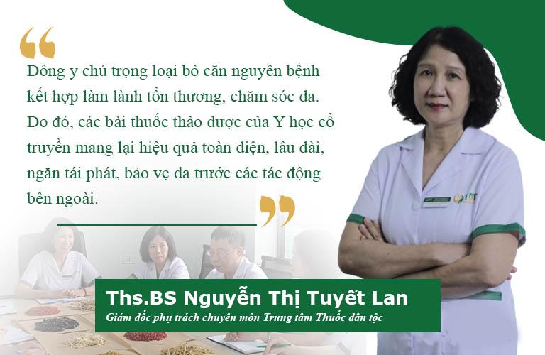 Bác sĩ Tuyết Lan chi sẻ nguyên tắc trị bệnh da liễu của Đông y
