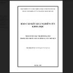 Báo cáo kết quả nghiên cứu thảo dược đặc trị bệnh dạ dày trong Sơ can Bình vị tán thế hệ 2 - Chủ nhiệm đề tài: Ths.BS Nguyễn Thị Tuyết Lan.