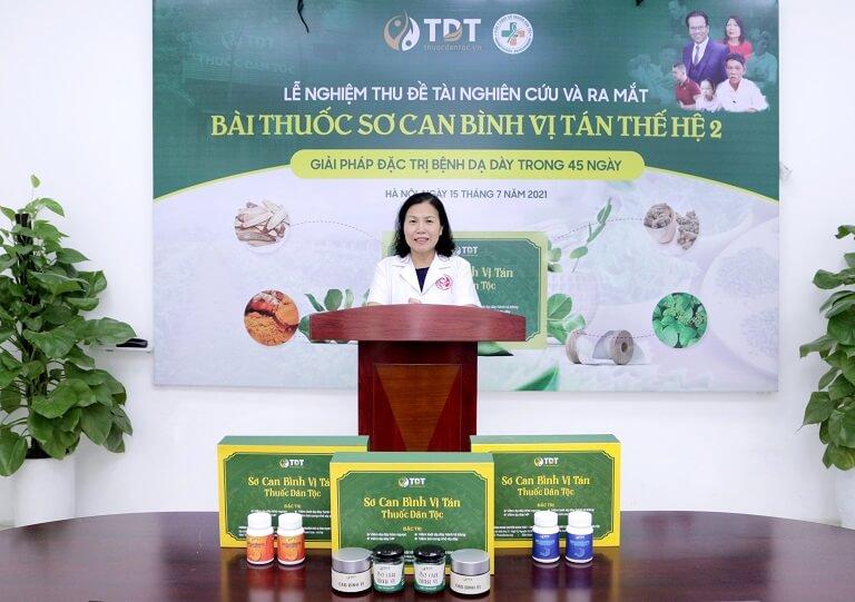 Tiến sĩ - Bác sĩ Nguyễn Thị Vân Anh - Viện trưởng Viện Nghiên cứu và Phát triển Y dược cổ truyền dân tộc