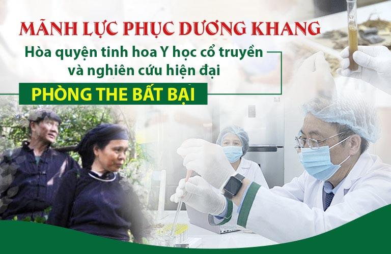 Mãnh lực Phục dương khang có nguồn gốc từ bài thuốc bí truyền của người Thái đen