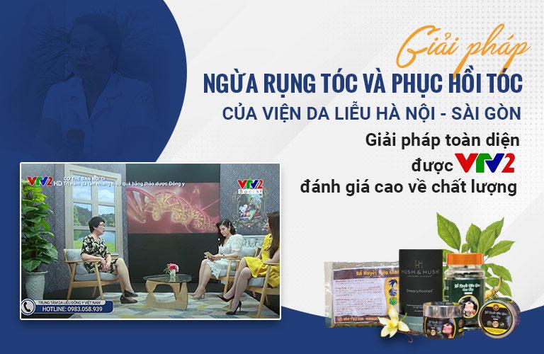 Giải pháp ngăn rụng tóc và kích thích mọc tóc của Viện Da liễu Hà Nội - Sài Gòn được VTV2 đánh giá cao