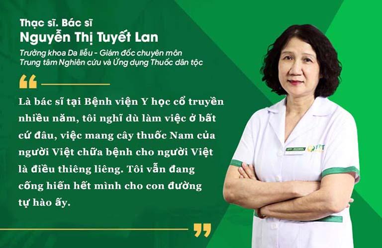 Bác sĩ Tuyết Lan là bác sĩ YHCT đầu ngànhBác sĩ Tuyết Lan là bác sĩ YHCT đầu ngành