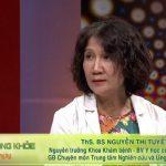 Bác sĩ Tuyết Lan trong chương trình Sống khỏe mỗi ngày VTV2