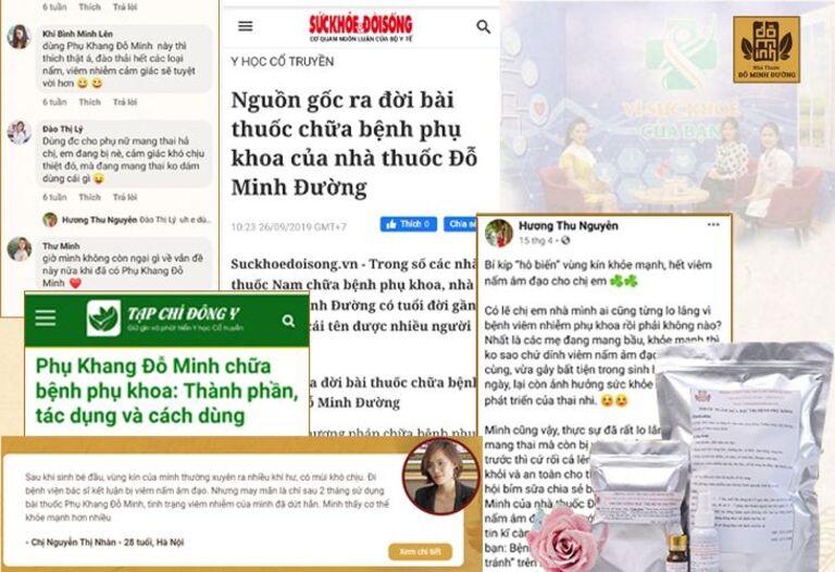 Báo chí đưa tin về bài thuốc Phụ Khang Đỗ Minh