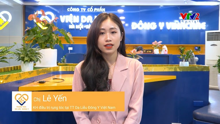 Mái tóc của khách hàng Lê Yến đã cải thiện rõ rệt sau áp dụng giải pháp ngăn rụng tóc và kích thích mọc tóc của Viện Da liễu Hà Nội - Sài Gòn